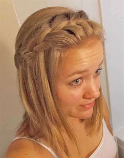 waterfall braid for medium length hair cute and easy to