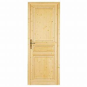 Bloc porte classique sapin massif portes for Porte de garage avec porte intérieure en pin massif