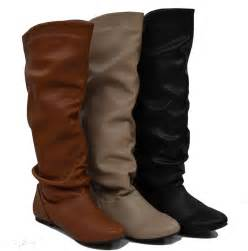 womens flat leather boots australia womens knee high slouch boots flats lining slip on comfy fast shipping ebay