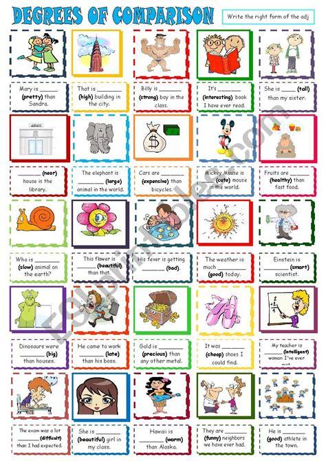 DEGREES OF COMPARISON - ESL worksheet by Lucky_sunshine