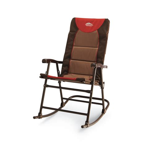 Folding Rocking Lawn Chair In A Bag by Rocking Chair Folding Outdoor Cing Patio Comfortable
