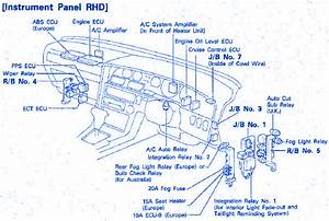 Toyota Supra 2 0 Gt 1992 Instrument Fuse Box  Block Circuit Breaker Diagram