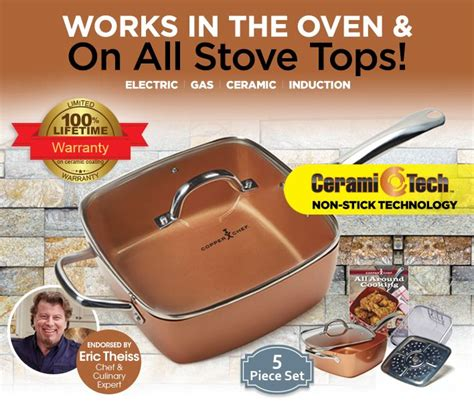 copper chef cookware copper chef   cook pasta cooking gadgets
