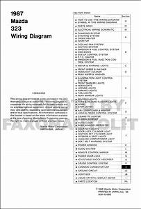1988 Mazda 323 Hatchback And Sedan Wiring Diagram Original