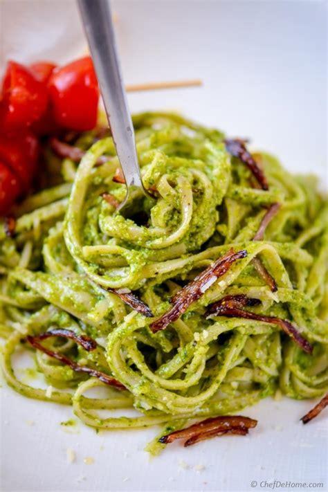 Best Pesto Sauce Recipe Pesto Pasta Recipe Chefdehome