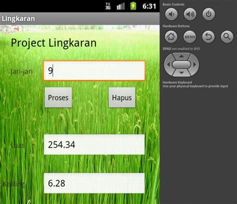 Program Android Menghitung Luas Dan