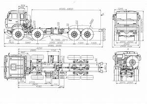 Kamaz 63501 2006 Blueprint