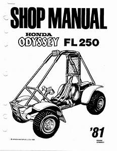 Honda 1981 Fl250  Odyssey 250 Atv Service Manual