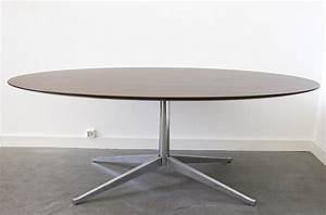 Table Marbre Ovale : table ovale florence knoll design xxe lausanne suisse ~ Teatrodelosmanantiales.com Idées de Décoration