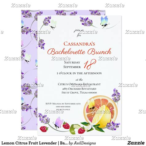 Lemon Citrus Fruit Lavender Bachelorette Party