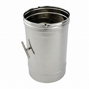 Tuyau Inox 200 : tuyau 33cm r gulateur tirage inox simple paroi 200 ~ Edinachiropracticcenter.com Idées de Décoration