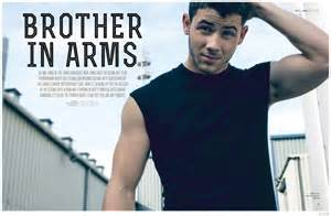 Nick Jonas Sports Active Styles For Attitude Cover Photo Shoot