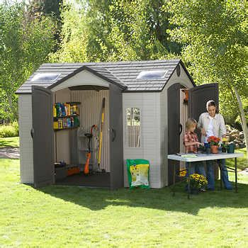 resin shed costco lifetime brighton 8 ft x 10 ft side entry shed