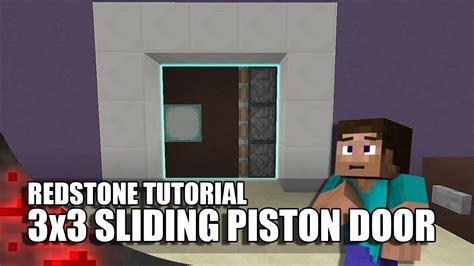 minecraft  sliding piston door youtube