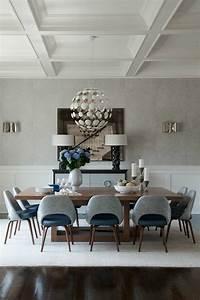 Voici la salle a manger contemporaine en 62 photos for Meuble salle À manger avec chaise grise et blanche