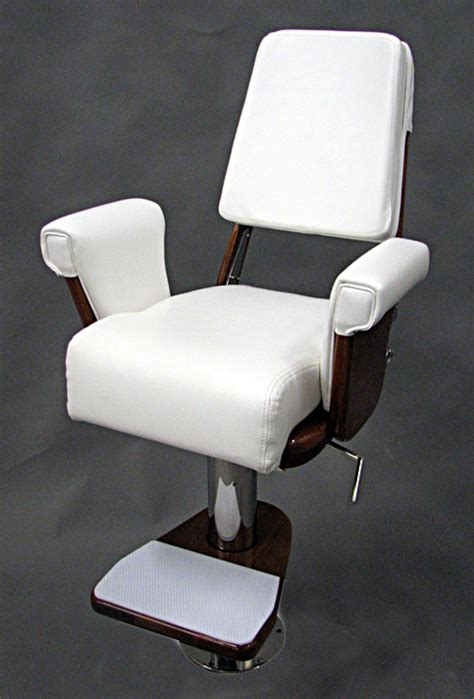 helm chair package with contoured cushion and teak footrest