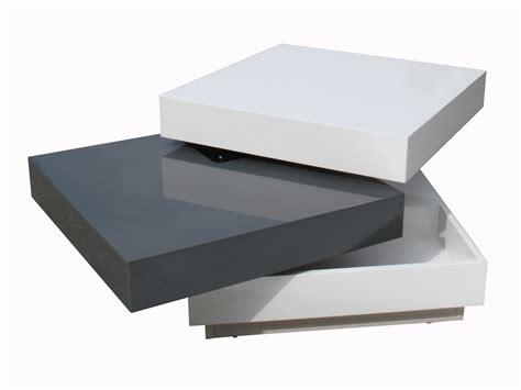table de cuisine carree table basse carrée plateaux pivotants bois laqué l60cm