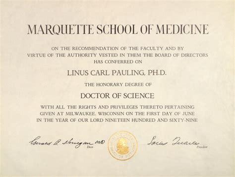 marquette school  medicine honorary doctor  science