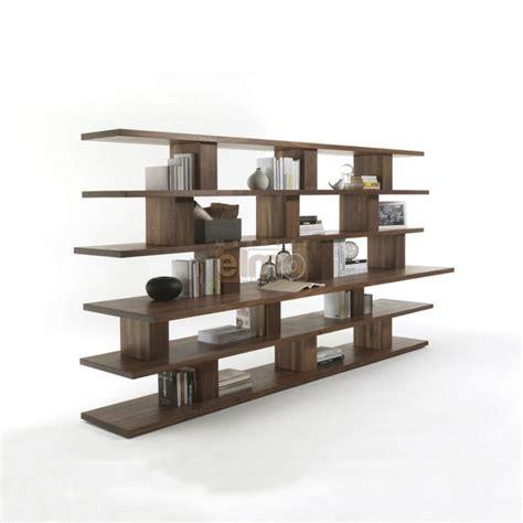 meuble tv et bureau bibliothèque moderne ouverte plan en saillie 100 bois