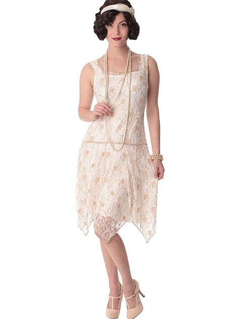 beaded  style white lace flapper dress  wedding