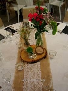 Centre De Table Mariage : mariage campagne chic jute et dentelle mettent en valeur ~ Melissatoandfro.com Idées de Décoration