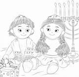 Shelf Coloring Elf Kantor Jewish Hanukkah Kippah Sheet Sheets sketch template