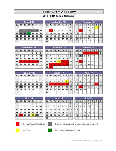 school calendar texas autism academy