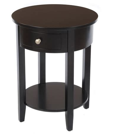 Round Side Table With Drawer 236468 Living Room At