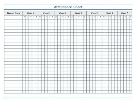 25 attendance sheets ideas on