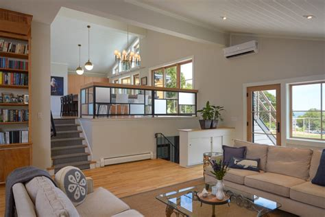 open plan kitchen living room design an awesome update of a split level mid century modern home