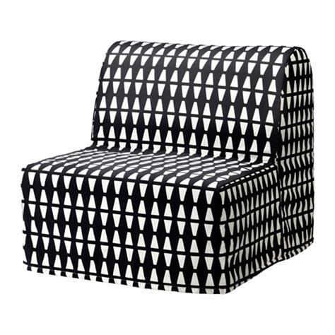 Lycksele Chair Bed Cover Pattern by Lycksele L 214 V 197 S Chair Bed Ebbarp Black White Ikea