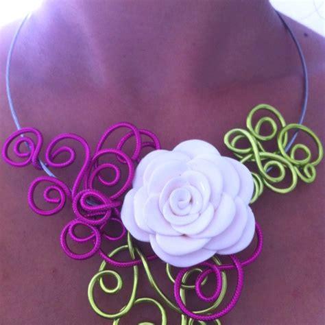 fleur en pate fimo 75 best collier en fil aluminium images on