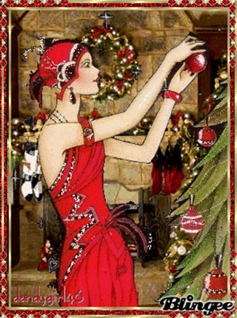 flapper girl christmas spirit picture  blingeecom