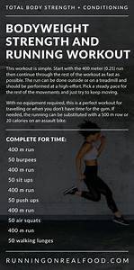 Bodyweight And Running Workout  U0026quot For Time U0026quot