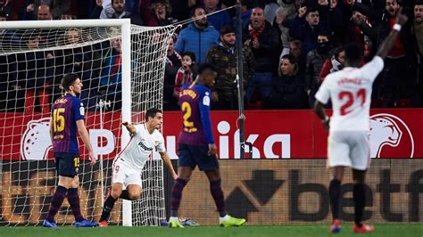 Sevilla FC vs. Barcelona - Football Match Report - January ...