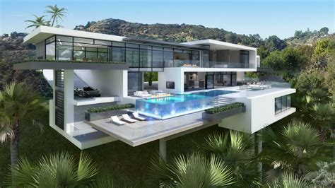 Contemporary Mansions On Sunset Plaza Drive, La
