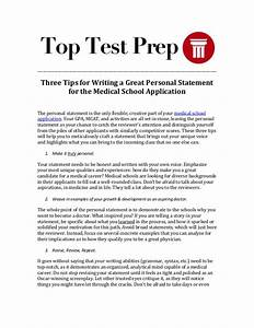 how long is the personal statement for medical school