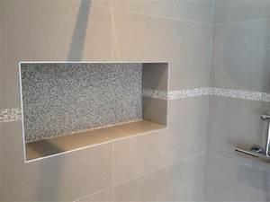 les 25 meilleures idees de la categorie niche de douche With carrelage adhesif salle de bain avec pommeau douche led
