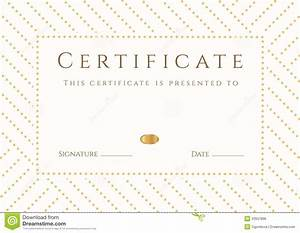 Certificate  Diploma Template  Gold Award Pattern Royalty Free Stock Image