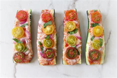 Pizza Boat by Zucchini Pizza Boat