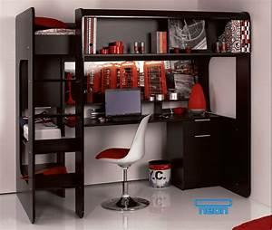 Lit 1 Place Mezzanine : lit mezzanine secret de chambre ~ Melissatoandfro.com Idées de Décoration