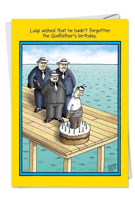 godfather funny birthday greeting card