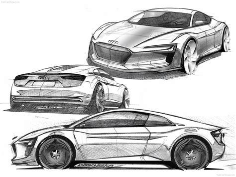 Audi Concept Car Drawing, Audi A1 Etron Concept