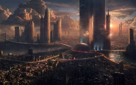 future megacity wallpapers  images wallpapers