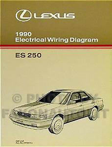 1990 Lexus Es 250 Wiring Diagram Manual 90 Es250 Oem