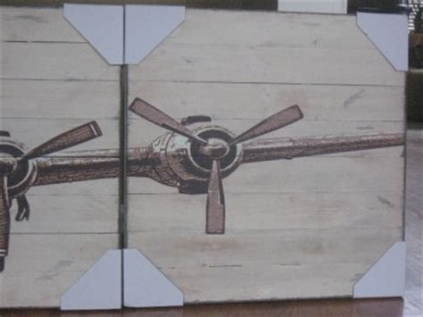 Pottery Barn Wall Decor Ebay by Pottery Barn Planked Airplane Wood Panels Set 4 Vintage