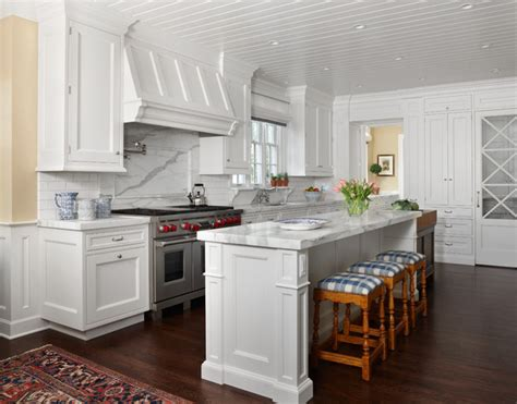 Decorating Ideas For Kitchen Cabinet Tops - east coast white traditional kitchen denver by exquisite kitchen design