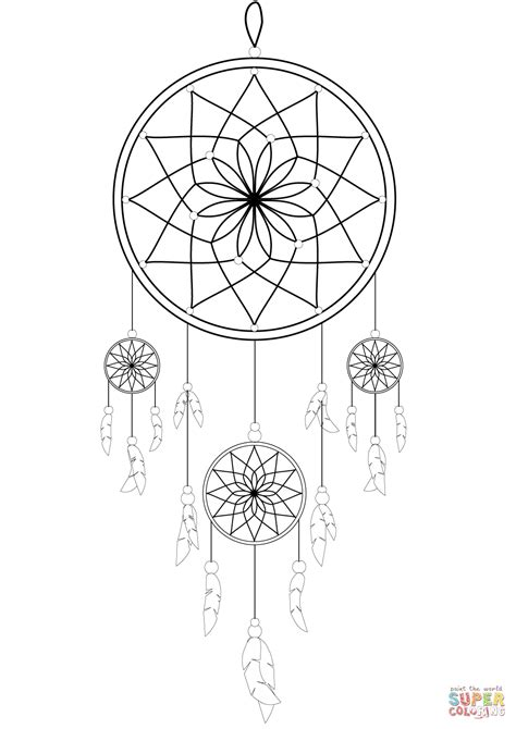 Dream Catcher coloring page | Free Printable Coloring Pages