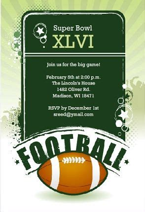 superbowl colors bowl invitation can customize colors for