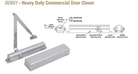 doormerica dc heavy duty commercial door closer